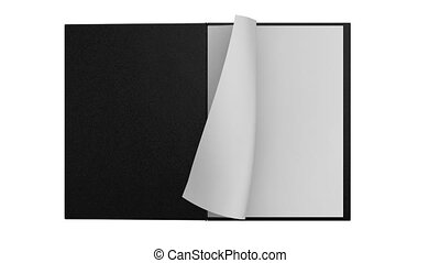 White notepad animation