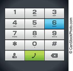 White Number Phone Keypad