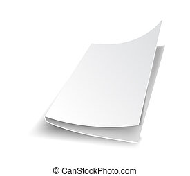 White office paper blank sheet with shade vector - White...