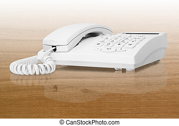 white office telephone