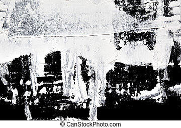 White oil paint - abstract composition