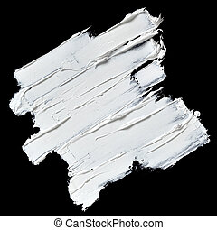 White oil paint brush strokes