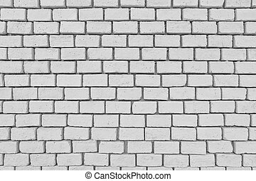 White old brick wall in decoration architecture.