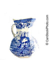White old English  jar