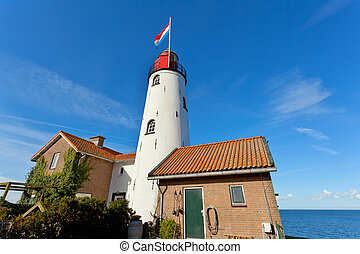 white old lighthouse in Urk