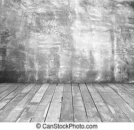 White Old wooden wall