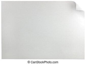 white oldal, becsavar, horizontális