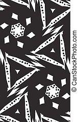 White on Black Seamless Pattern