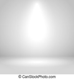 White one spotlight studio vector background.