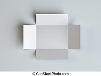 White open blank cardboard box