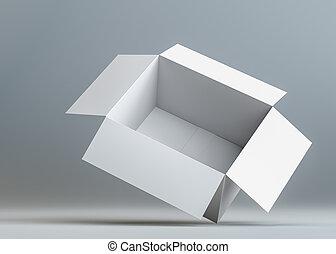 White open blank cardboard box