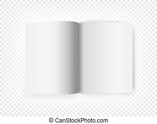 White open book isolated on transparent background