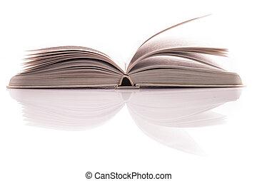 White open book