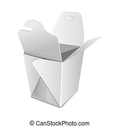 White open cardboard box for Chinese food illustration
