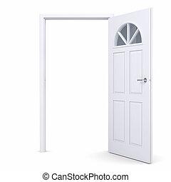 White open door