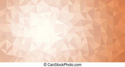 White Orange Low Poly Vector Background
