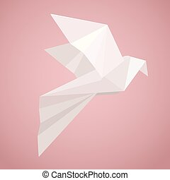 White origami pigeon