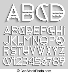 White original alphabet letters and numbers