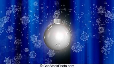 White ornament with snowflake background