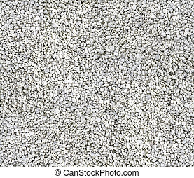white ornamentel gravel texture background in aerial view