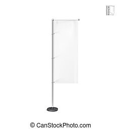 White outdoor feather flag, stander advertising banner shield