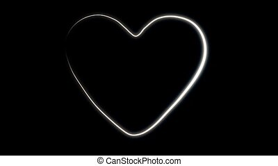 White Outlined Heart