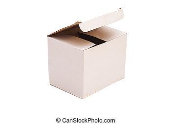 White Package Cardboard Box Opened