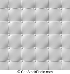 white leather upholstery pattern , 3d illustration