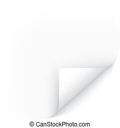 White Page Corner. Easy To Edit Vector Image. Ready For Your Message.