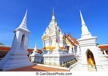 White pagoda at surat thani, thailand