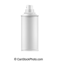 White Paint Aerosol Spray Metal Bottle Can, Graffiti, Deodorant,