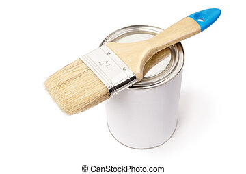 white paint can