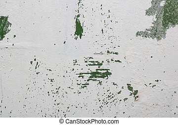 White paint on a wall, texture or background