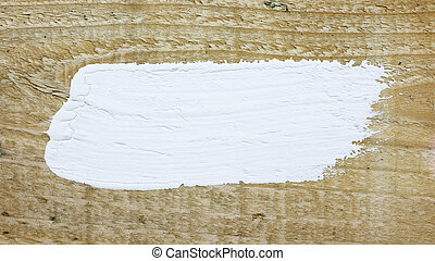 White paint space on wood background