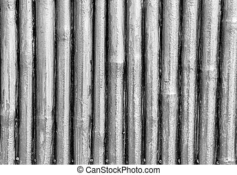 White painted Bamboo texture wall washed wood