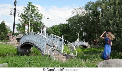 white painted bridge - big beautiful white painted ornate...