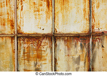 White painted metal with rust texture