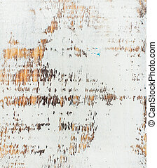White painted old rustic shabby wood texture and background