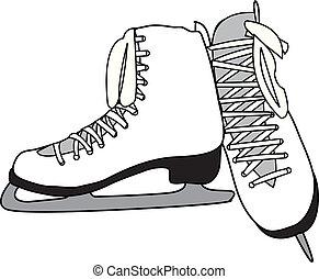 Figure Skates - White Pair of Figure Skates