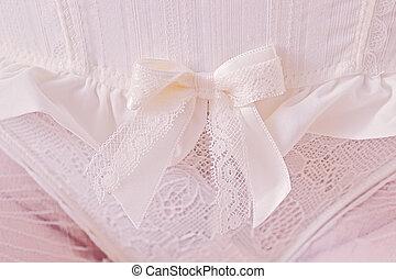 White panties - Close-up of white panties with ribbon