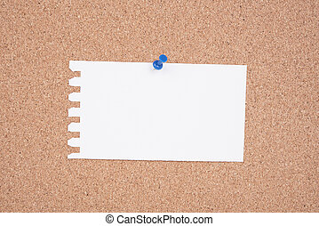 White Paper A To Do List pinned to a cork notice board.