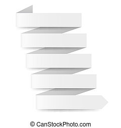 White paper arrow