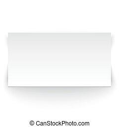 White paper banner