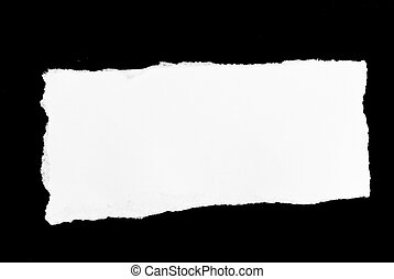 white paper black background