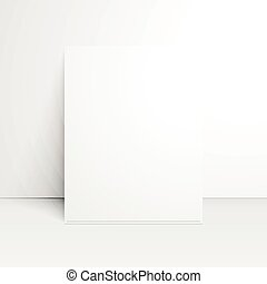 White paper blank with shadow.