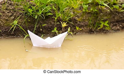 White paper boat