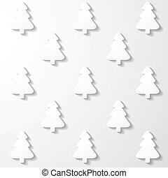 White paper Christmas