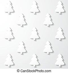 White paper Christmas