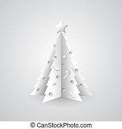 White paper Christmas tree background