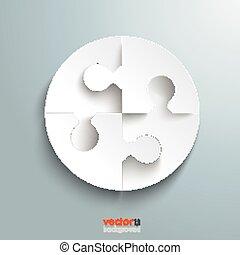 White Paper Circle Puzzle